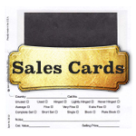 Stamp Dealer Sales Cards