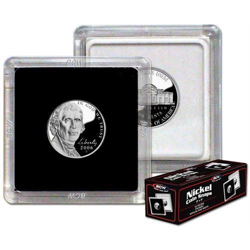 Nickel 2x2 Snap Tite Snaplocks High Quality Storage Capsules Box 25 Edgar Marcus