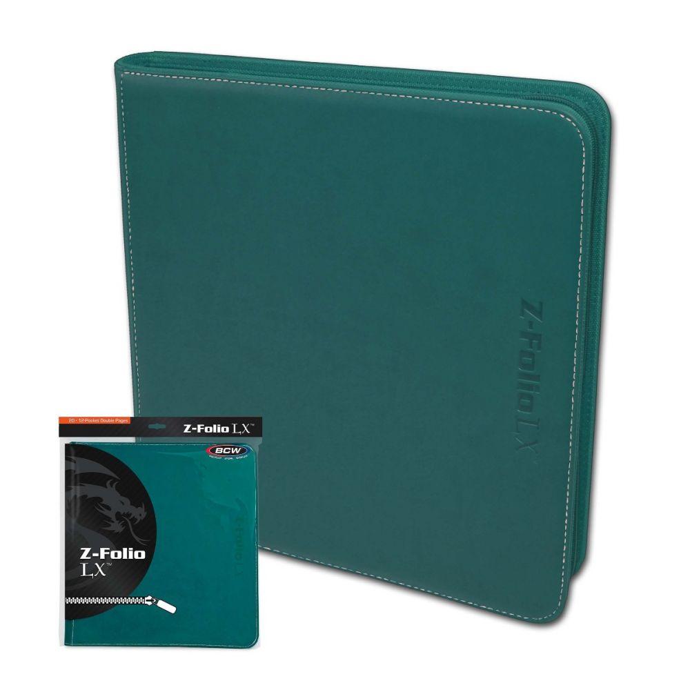 BCW Trading/Gaming Card 12-Pocket Z-Folio LX Album -- Teal