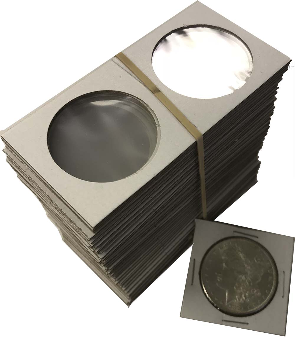 Inserts Free Box 2.5x2.5 Frame A Coin Vinyl Flips 100 Holders Double Pocket