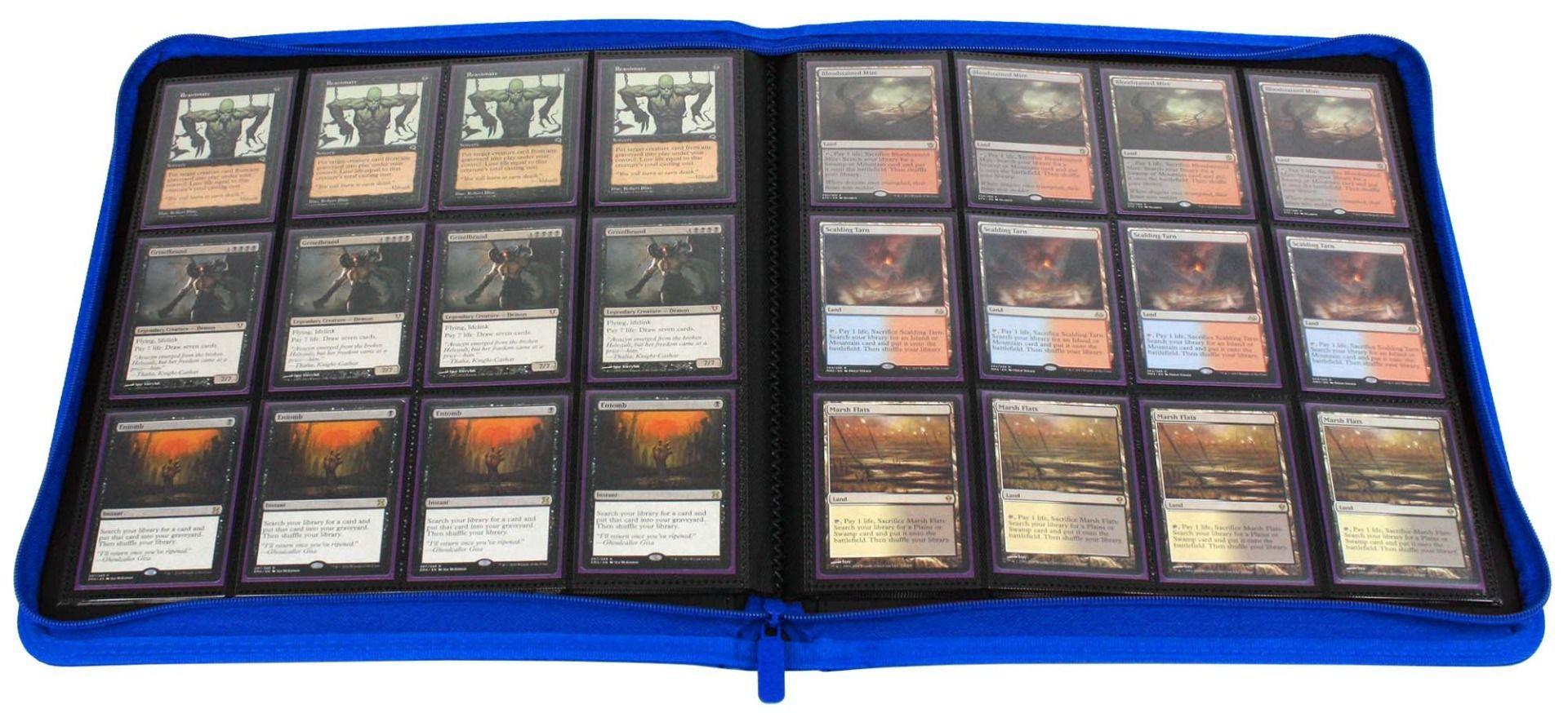 BCW Trading/Gaming Card 12-Pocket Z-Folio LX Album -- Blue