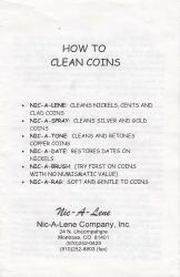 How To Clean Coins Booklet