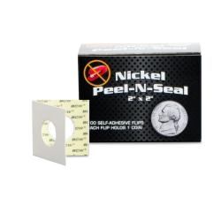 BCW Peel-N-Seal Self Adhesive Flips -- Nickel -- Pack of 100