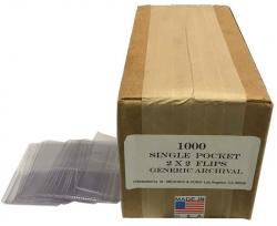 Meghrig Archival Vinyl Single Pocket 2x2 Holders -- Box of 1000