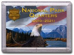 HE Harris National Park Quarters Frosty Case - Mountain/Eagle - 2-hole, 2x3