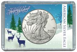 HE Harris ASE Frosty Case - Happy Holidays Deer, 2x3