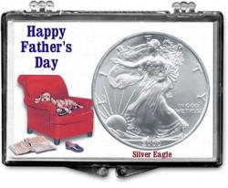 Edgar Marcus Snaplock Holder -- Father's Day -- Dog -- Silver Eagle