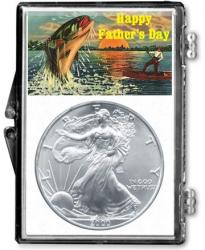 Edgar Marcus Snaplock Holder -- Father's Day -- Fishing -- Silver Eagle