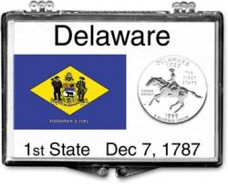 Edgar Marcus Snaplock Holder -- Delaware State Flag