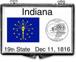 Edgar Marcus Snaplock Holder -- Indiana State Flag