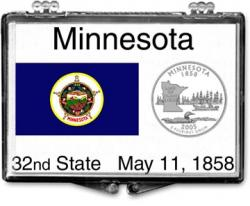 Edgar Marcus Snaplock Holder -- Minnesota State Flag