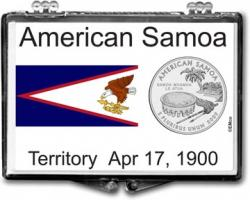 Edgar Marcus Snaplock Holder -- American Samoa Flag