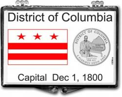 Edgar Marcus Snaplock Holder -- District of Columbia Flag
