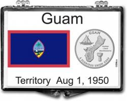 Edgar Marcus Snaplock Holder -- Guam Flag