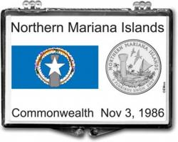 Edgar Marcus Snaplock Holder -- Northern Mariana Islands Flag