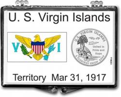 Edgar Marcus Snaplock Holder -- US Virgin Islands Flag
