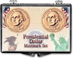Edgar Marcus Snaplock Holder -- Presidential Dollar -- Mintmark Set