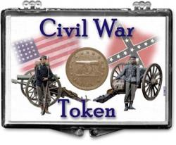 Edgar Marcus Snaplock Holder -- Civil War Token -- Soldiers