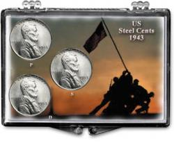 Edgar Marcus Snaplock Holder -- Steel Cent Set -- Iwo Jima