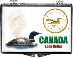 Edgar Marcus Snaplock Holder -- Canadian Loon Dollar
