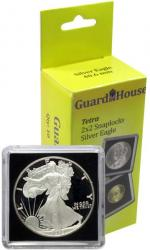 Guardhouse Tetra 2x2 Snaplocks -- Silver Eagle Size -- Pack of 10