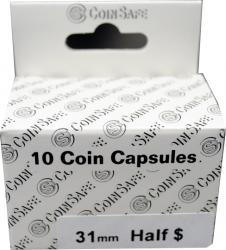 Coin Safe Capsule - Half Dollar Size - 10 pack