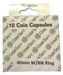Coin Safe Capsule - Silver Eagle Size with Ring - 10 pack