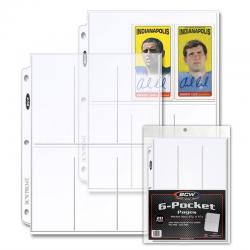 BCW Polypropylene Pages -- 6 Pockets for Trading Cards -- Pack of 20