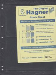 Hagner Stock Sheets -- Single Side, 2 Row -- Pack of 5