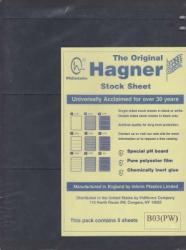 Hagner Stock Sheets -- Single Side, 3 Row -- Pack of 5