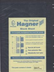 Hagner Stock Sheets -- Single Side, 5 Row -- Pack of 5