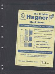 Hagner Stock Sheets -- Double Sided, 1 Row -- Pack of 5 -- Black