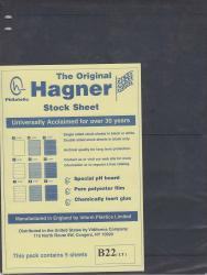 Hagner Stock Sheets -- Double Sided, 2 Row -- Pack of 5 -- Black