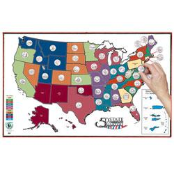 Littleton State Quarters Display Map (w/Territories)