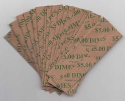 Flat Coin Wrappers - Dime Size
