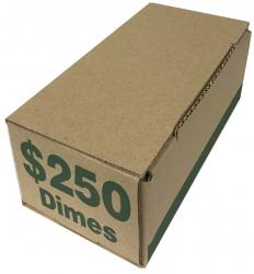 Coin Roll Storage/Shipping Boxes -- Dime Size
