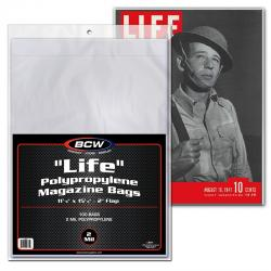 "BCW ""Life"" Magazine Bags -- Pack of 100"