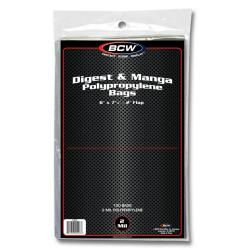 BCW Digest and Manga Bags -- Pack of 100