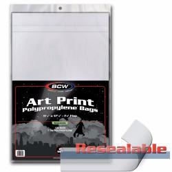 BCW 11x17 Art Print Bags (Resealable) -- Pack of 100