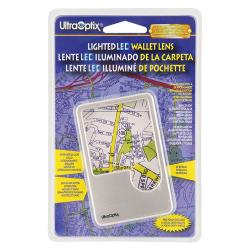 UltraOptix LED Lighted Wallet Magnifier, 2x/6x