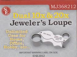 SE Dual 10X and 20X Jeweler's Loupe