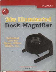 SE 20X Illuminated Desk Magnifier