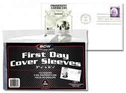 BCW Ultra Thin Sleeves -- First Day Cover -- Pack of 100