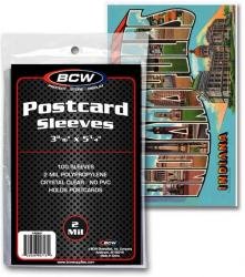 BCW Ultra Thin Sleeves -- Postcards -- Pack of 100