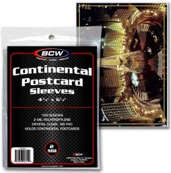 BCW Ultra Thin Sleeves -- Continental Postcards -- Pack of 100