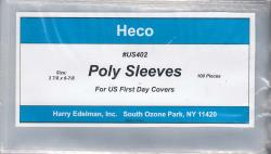HECO Poly Philatelic Sleeves -- US Covers