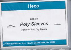 HECO Poly Philatelic Sleeves -- Euro Covers