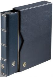 Lighthouse Premium Leather Stockbook and Slipcase -- 9 x 12 -- 32 Black Pages