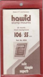 Hawid Stamp Mounts: 106x55