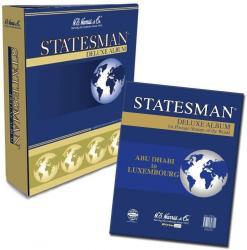 HE Harris Statesman Stamp Album  -- Pages and Binder